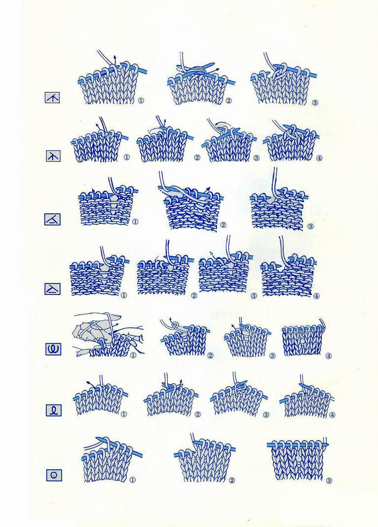 Japanese knitting symbols 1