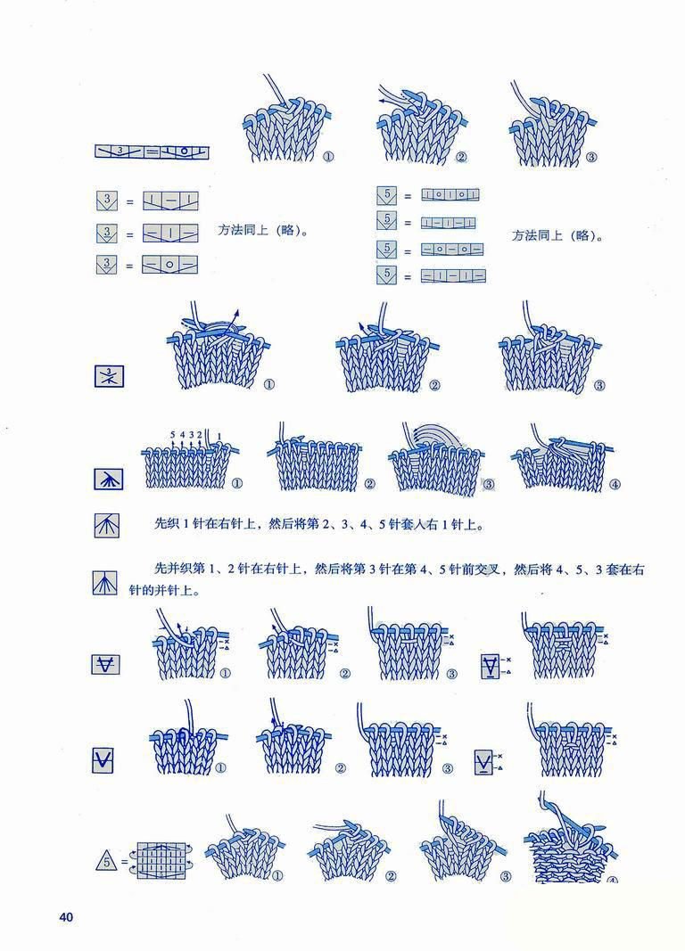 Japanese knitting symbols 2