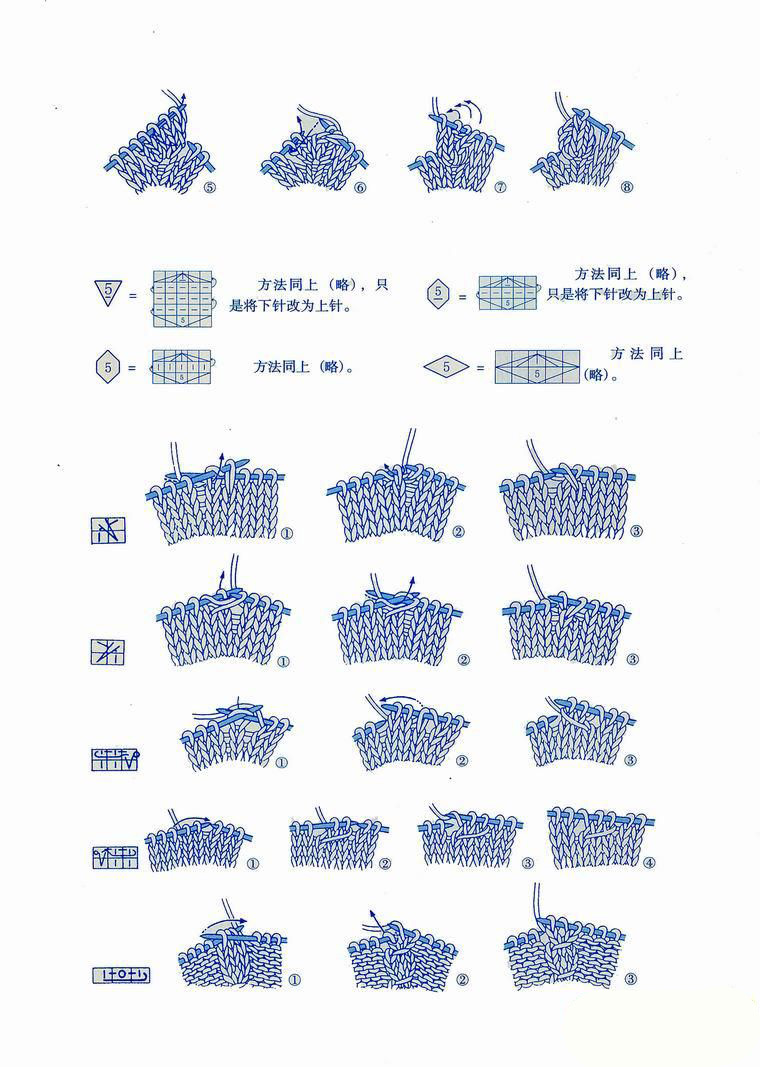 Japanese knitting symbols 3