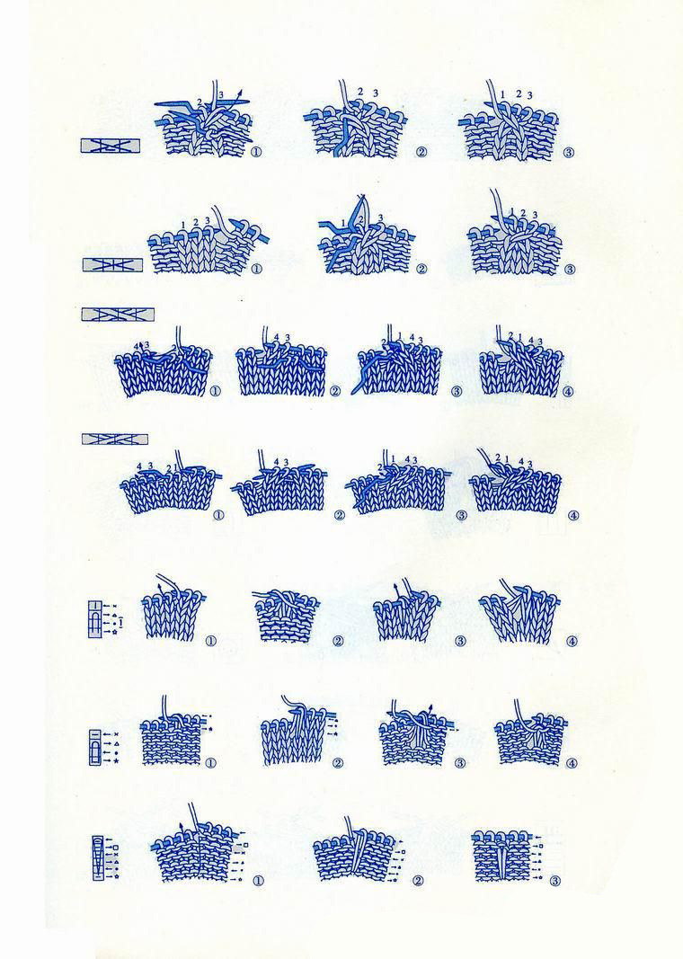 Japanese knitting symbols 5