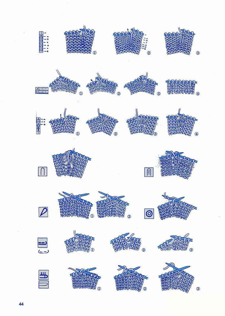 Japanese knitting symbols 6