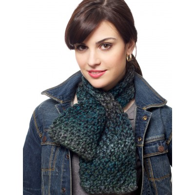 Keyhole Scarf Free Knitting Pattern