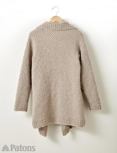 Lapel Cardigan - Free Knitting Pattern 1