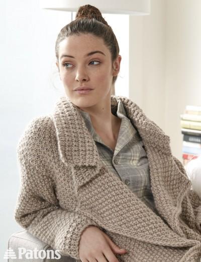 Lapel Cardigan - Free Knitting Pattern 2