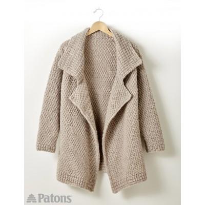 Lapel Cardigan - Free Knitting Pattern