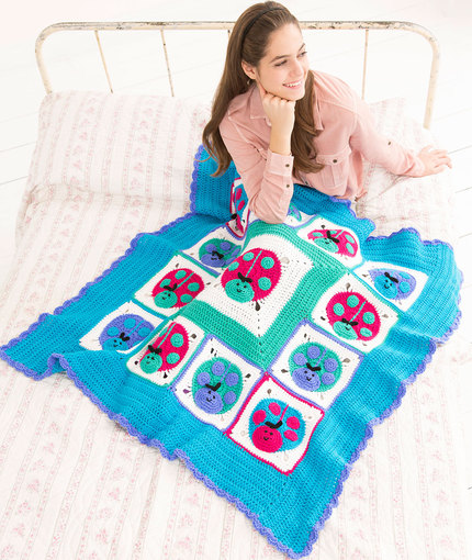 Lucky Ladybug Throw - Free Crochet Pattern