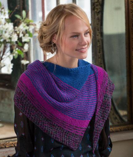 Modern Stripe Shawl Free Knitting Pattern