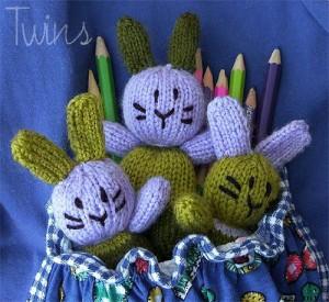 Amigurumi Pocket Bunny free knitting pattern