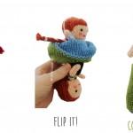 Anna Frozen Flip Doll Free Knitting Pattern