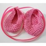 Baby Ballet Slippers Free Knitting Pattern