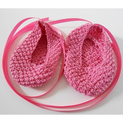 Baby Ballet Slippers Free Knitting Pattern