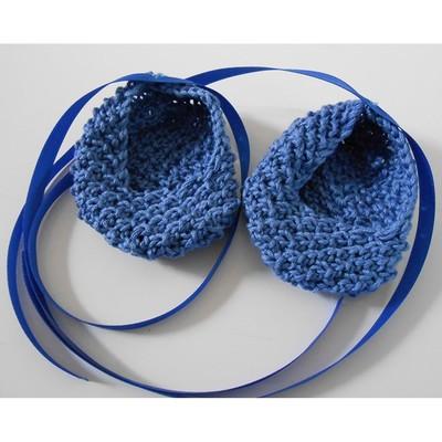 Baby Ballet Slippers Free Knitting Pattern 2
