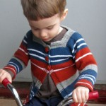 Baby and Toddler Striped Cardigan free knitting pattern
