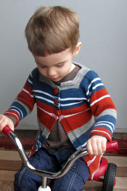 Baby and Toddler Striped Cardigan free knitting pattern