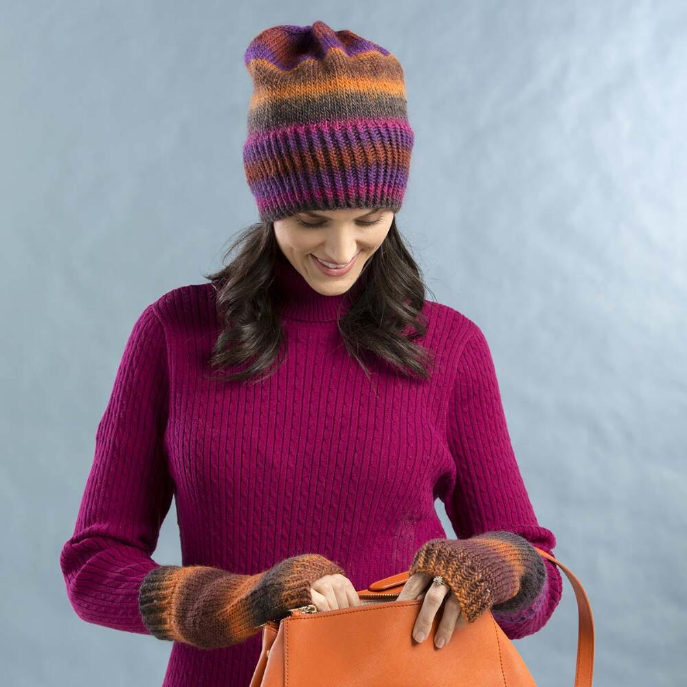 Boreal Hat and Mitts Set Free Knitting Pattern ⋆ Knitting Bee