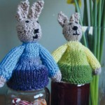Bunny Jar Toppers - Free Easter Knitting Pattern