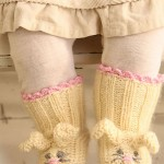Easter bunny booties free knitting pattern