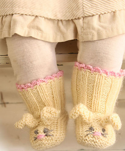 Easter Bunny Booties Free Knitting Pattern Knitting Bee