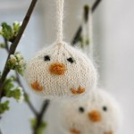 Easter chickens ornaments free knitting pattern