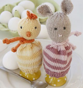 Chick and Mouse Egg warmers for Easter