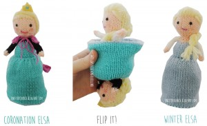 Elsa Frozen Flip Doll Free Knitting Pattern