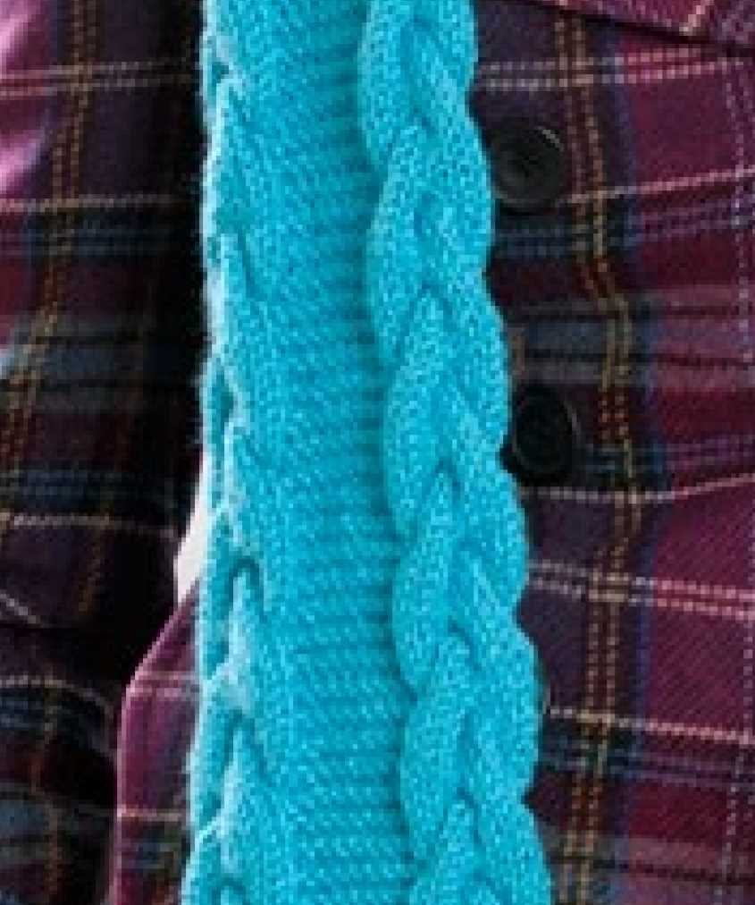 Cable Edge Scarf Free Knitting Pattern
