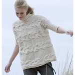 Horizontal Cable Pullover Free Knitting Pattern