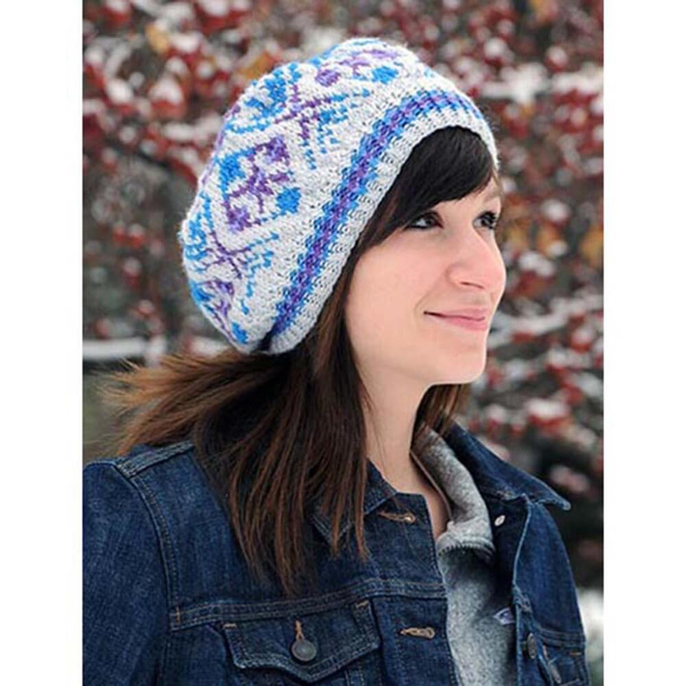 Mountain Laurel Tam Free knitting pattern ⋆ Knitting Bee
