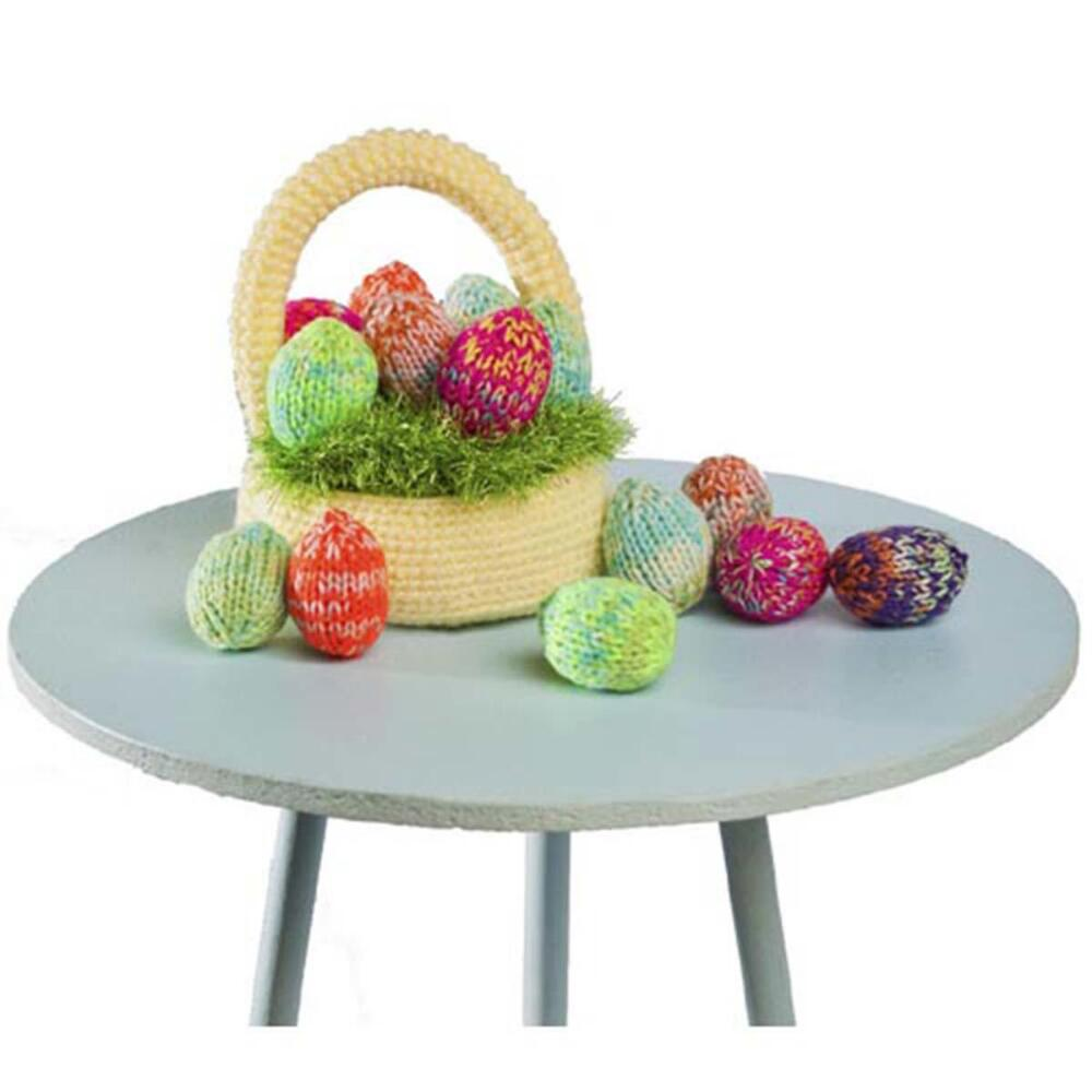 Razzle Dazzle Easter Eggs Free Knitting Pattern