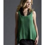 Spring Break Trapeze Tank Free Knitting Pattern
