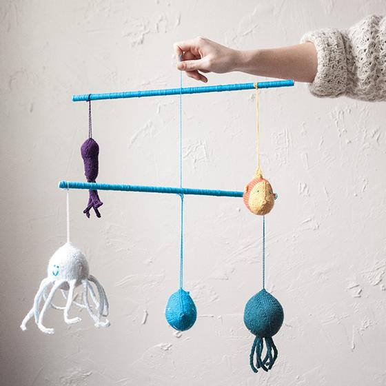 Under the Sea Mobile Free Knitting Pattern