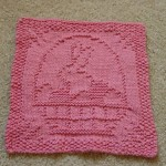 Easter dishcloth knit