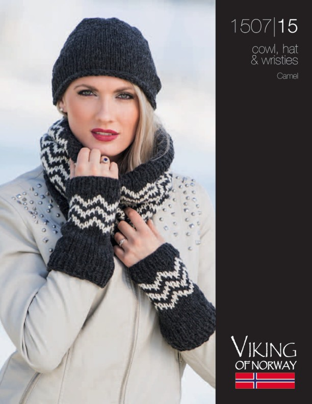 Chevron Cowl, Hat & Wristies Free Knitting Patterns