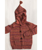 Kids Jacket with Hood Free Knitting Pattern