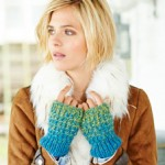 Ombre Mitts Free Knitting Pattern