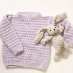 Cream Kids Sweater Free Knitting Pattern