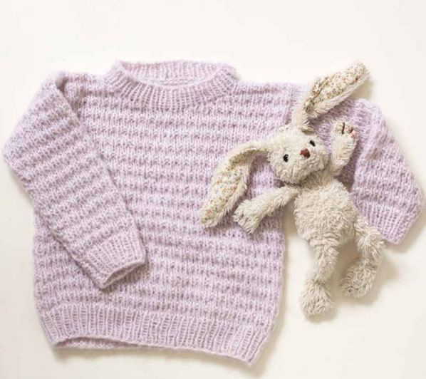Cream Kids Sweater Free Knitting Pattern ⋆ Knitting Bee Mesmerizing Free Knitting Patterns For Baby Sweaters