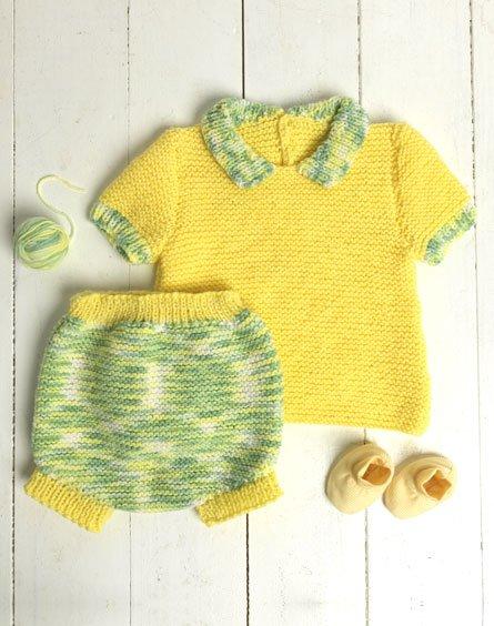 Passioknit Spring Baby Set Free Knitting Pattern