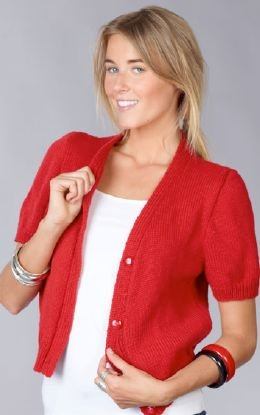 Short Sleeve Cardigan Free Knitting Pattern