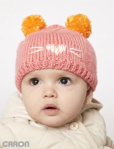 Cute As A Kitten Free Baby Knitting Hat Pattern Knitting Bee