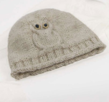 free baby owl hat knitting pattern ⋆ Knitting Bee