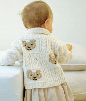 Cable And Teddy Bear Jacket Free Knitting Pattern Knitting Bee