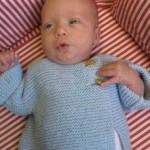 Garter Stitch Baby Sweater Free Knitting Pattern
