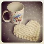 Knit a Heart Coaster