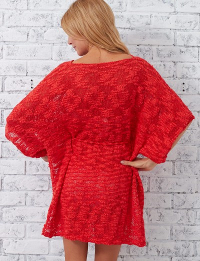 Patons Beach Cover-Up Free Knitting Pattern back