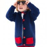 Too Cool Boy's Cardigan Free Knitting Pattern