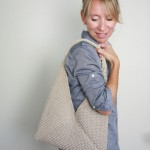 Tote Folded Bag Free Knitting Pattern