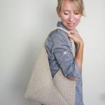 Tote Folded Bag Free Knitting Pattern