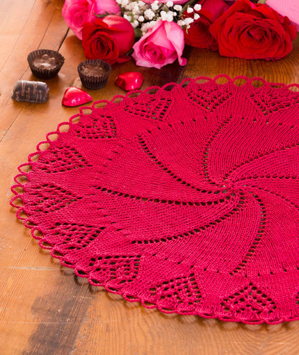 Valentine Heart Doily Free Knitting Pattern