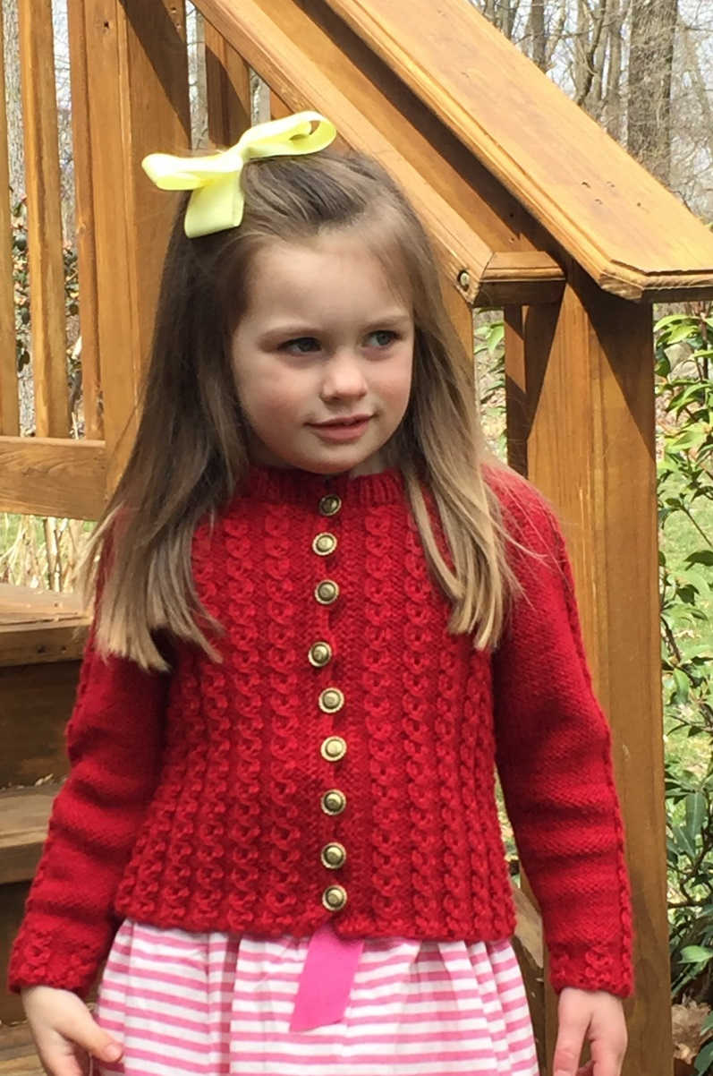 Child\'s Mock Cable Sweater Free Knitting Pattern ⋆ Knitting Bee